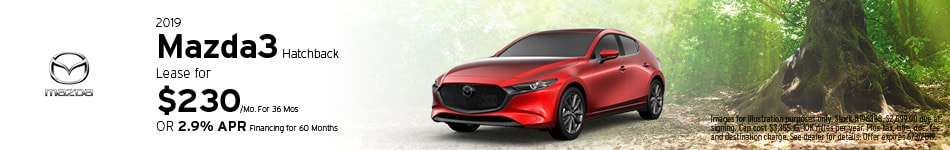 2019 Mazda3 Hatchback - Lease
