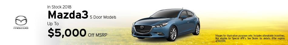 2018 Mazda3 5 Door - MSRP