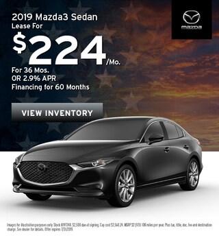 2019 Mazda3 Sedan - Lease