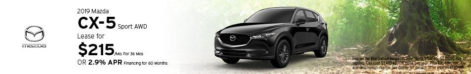 2019 Mazda CX-5 Sport - Lease