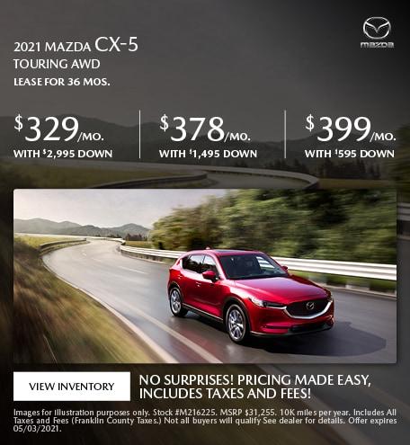 2021 Mazda CX-5 Touring AWD- April Offer