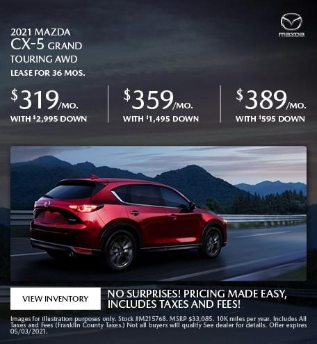 2021 Mazda CX-5 Grand Touring AWD- April Offer