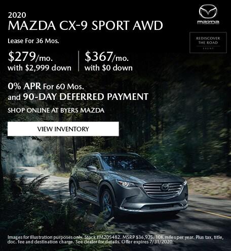 2020 MAZDA CX-9 Sport AWD - Lease