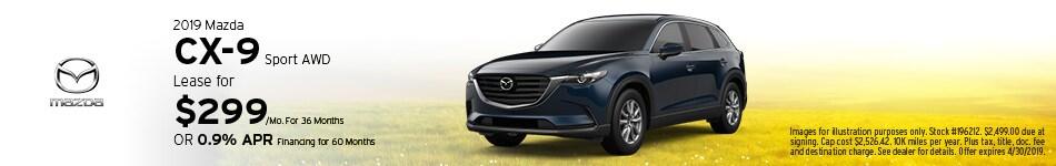2019 Mazda CX-9 Sport - Lease