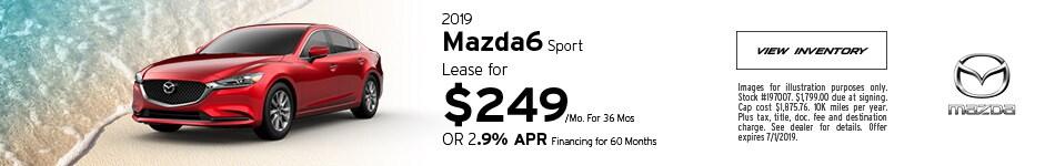 2019 Mazda6 Sport - Lease