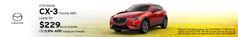 2019 Mazda CX-3 Touring - Lease