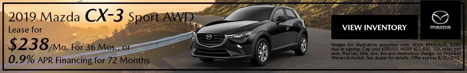 2019 Mazda CX-3 SUV - Lease