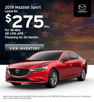 2019 Mazda6 Sedan - Lease