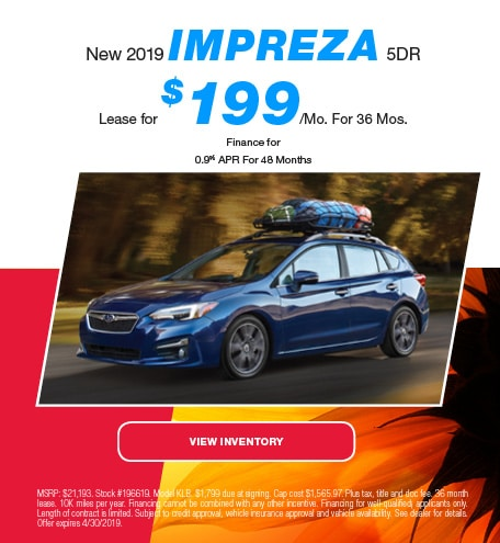 2019 Subaru Impreza 5DR - LEase