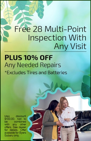 Free 28 Multi-Point Inspection With Any Visit