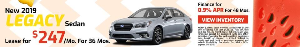 2019 Subaru Legacy - Lease