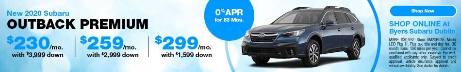 New 2020 Subaru Outback Premium