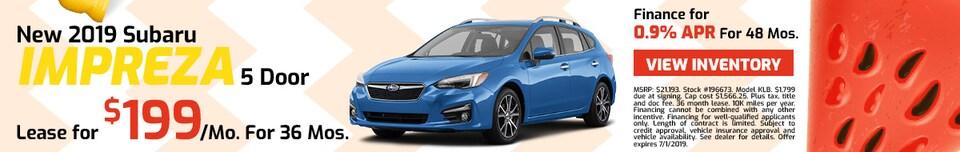 2019 Subaru Impreza - Lease