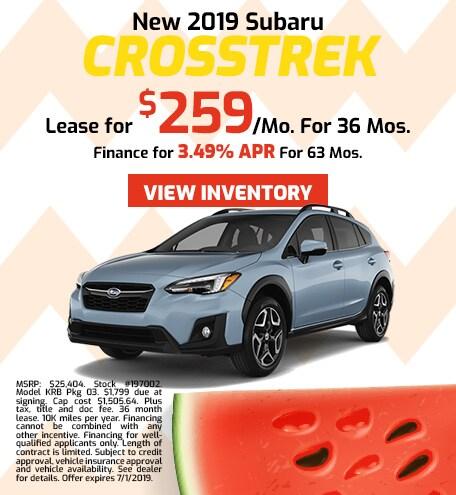 2019 Subaru Crosstrek - Lease