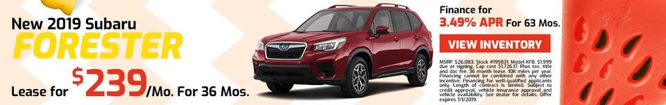 2019 Subaru Forester - Lease