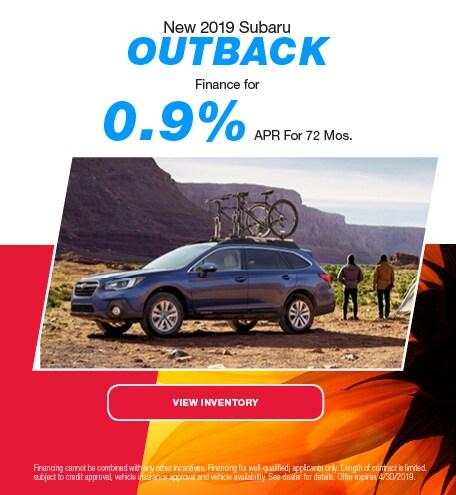 2019 Subaru Outback - APR