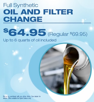 Full Synthetic Oil Change and Filter