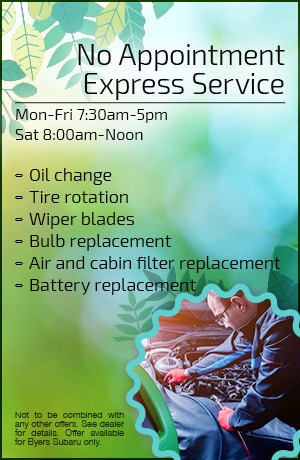 No Appointment Express Service