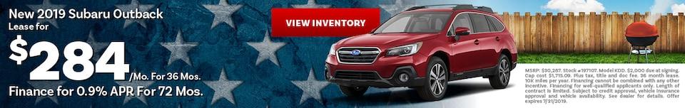 2019 Subaru Outback Lease or Finance