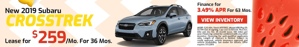 2019 Subaru Crosstrek - Lease