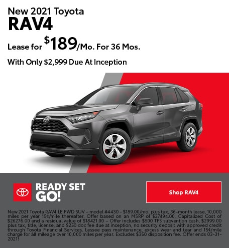 New 2021 Toyota RAV4- March Offer
