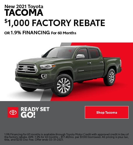 New 2021 Toyota Tacoma- March Offer