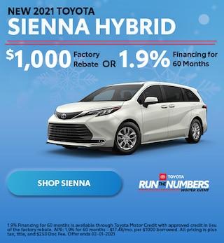 New 2021 Toyota Sienna Hybrid