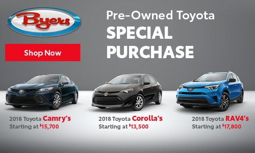 Pre-Owned Toyota Special Purchase