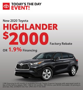 New 2020 Toyota Highlander