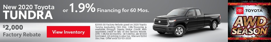 2020 Toyota Tundra - Rebate