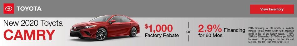 New 2020 Toyota Camry - Rebate