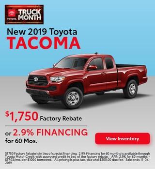 2019 Toyota Tacoma - Rebate