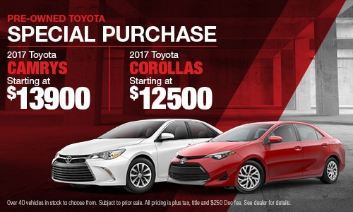 Pre-Owned Toyota Camrys and Corollas