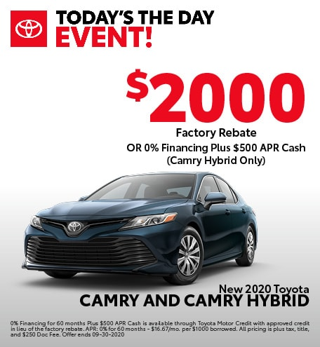 New 2020 Toyota Camry and Camry Hybrid