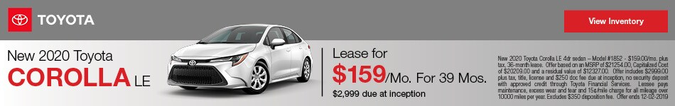 New 2020 Toyota Corolla - Lease