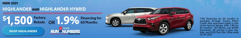 New 2021 Highlander and Highlander Hybrid