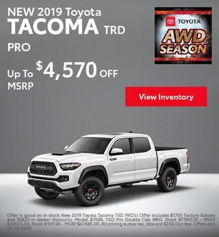 2019 Toyota Tacoma - MSRP