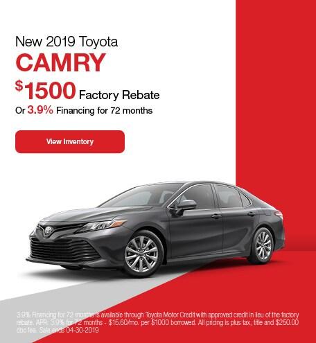 2019 Toyota Camry - Rebate