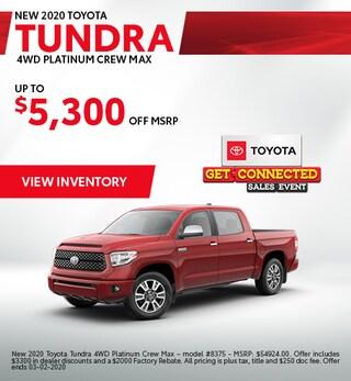 2020 Toyota Tundra- Savings
