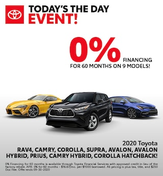 0% FINANCING FOR 60 MONTHS ON 9 MODELS!