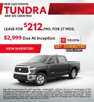 2020 Toyota Tundra- Lease