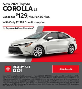 New 2021 Toyota Corolla LE- March Offer