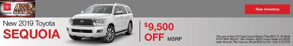 New 2019 Toyota Sequoia - Rebate