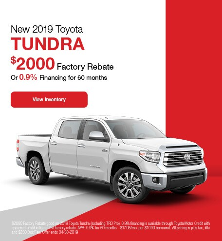2019 Toyota Tundra - Rebate