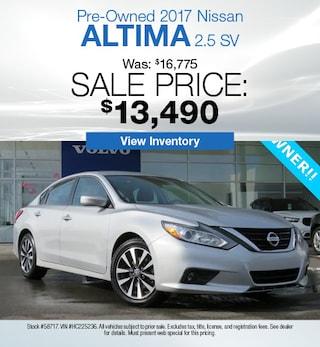 2017 Nissan Altima 2.5 SV - Offer