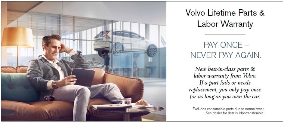 Volvo Lifetime Parts and Labor Warranty