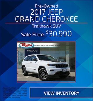 Pre-Owned 2017 Jeep Grand Cherokee Trailhawk SUV