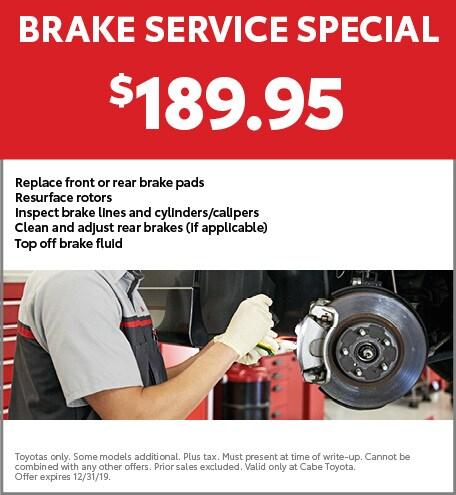 Brake Service Special