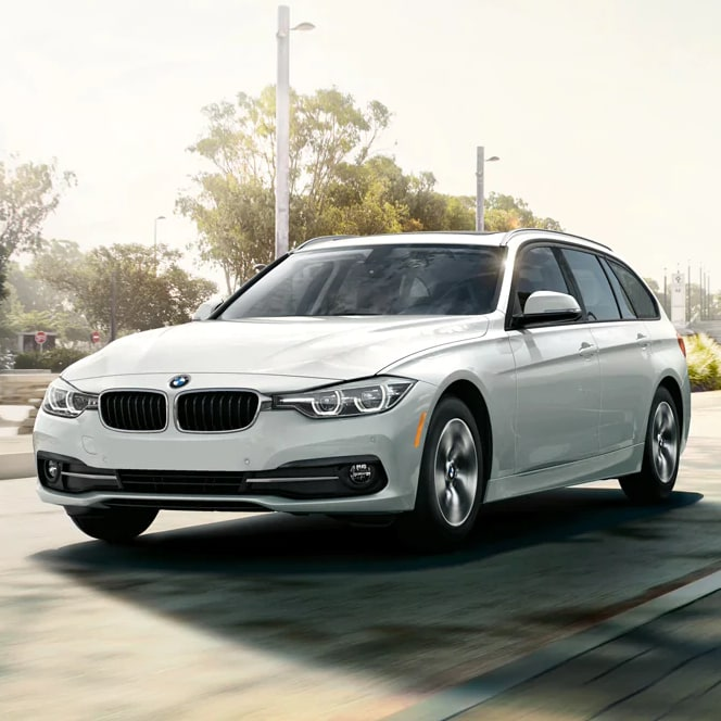 BMW 3 Series sedan Sports Wagon white exterior