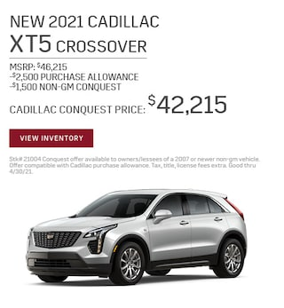 New 2021 Cadillac XT5 Crossover
